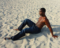 Man On The Sand Royalty Free Stock Photo