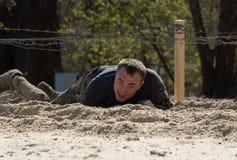 Man on sand stock image