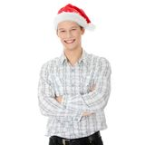 Man with santa cap Royalty Free Stock Photo