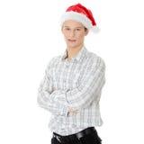 Man with santa cap Royalty Free Stock Image