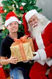 Man with Santa Claus Royalty Free Stock Photography