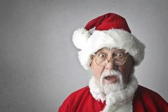 Man in Santa Claus Costume Stock Photography