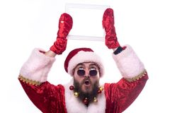 Man dressed as Santa Claus stock photography