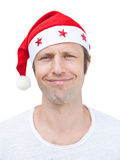 man in Santa Claus hat Royalty Free Stock Image