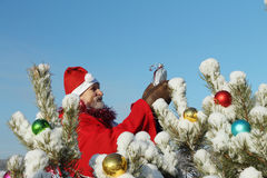 The man in Santa Claus's suit Stock Photography