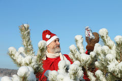 The man in Santa Claus's suit Stock Photo