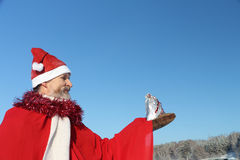 The man in Santa Claus's suit Stock Image