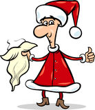 Man in santa costume cartoon Royalty Free Stock Image