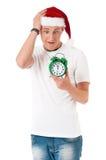 Man in Santa hat Royalty Free Stock Photo