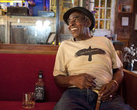 A man sat in a bar, Mississippi Stock Photography