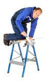 Man sawing Stock Photos