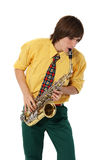 Man with a sax Stock Photos