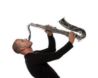 Man with saxophone Royalty Free Stock Photo