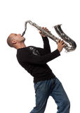 Man with saxophone Stock Image