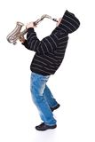 Man and saxophone Royalty Free Stock Photos