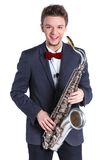 Man with saxophone Stock Photography