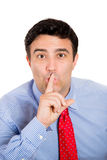 Man saying shhh Stock Images