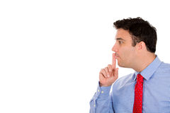 Man saying shhh Royalty Free Stock Images