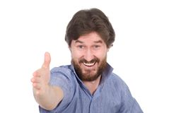 The man saying welcome Stock Photography