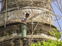 Man on scaffolding Royalty Free Stock Image