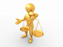 Man with scale. Symbol of justice Stock Photo