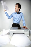 Man with scanner Stock Image