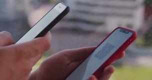 Scanning QR code on smartphone