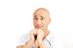 Man scared Stock Images