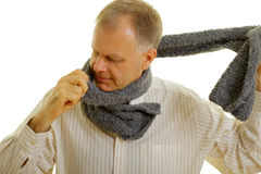Man with scarf Stock Photography