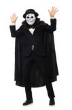 The man with scary mask isolated on white Stock Images