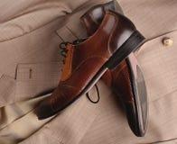 man schoenen en een kostuum Royalty-vrije Stock Afbeelding