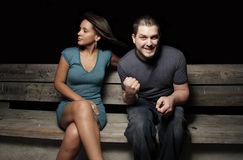 Man scores with a hot woman Stock Photography