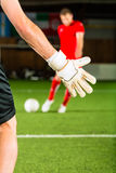 Man scoring a goal Stock Photography