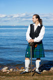 Man in scottish costume with sword Stock Image