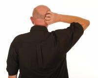 Man scratching head royalty free stock photo