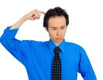 Man scratching head Royalty Free Stock Photos