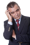 Man scratching his head Royalty Free Stock Photo