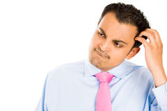 Free Man Scratching His Head Royalty Free Stock Photo - 32373845