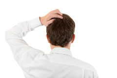 Man Scratching his Head Stock Image