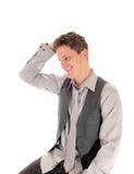 Man scratching his head. Stock Photo