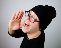 Man screaming Royalty Free Stock Photography