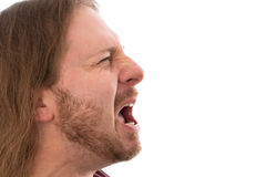 Man is screaming Stock Image