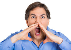 Man screaming Stock Photos