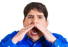 Man screaming Stock Photography