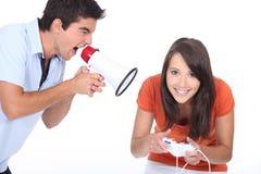 Man screaming at girlfriend Royalty Free Stock Photos