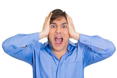 Man screaming hard Stock Photo