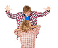Man screaming on his girlfriend Stock Photography