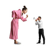 Man screaming with megaphone Royalty Free Stock Photography