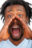 Man screaming out loud Royalty Free Stock Images