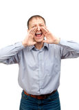 Man screaming out loud Royalty Free Stock Photos